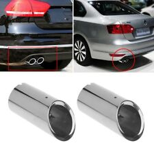 2xStainless Steel Exhaust Muffler Pipe For Golf 6 7 Volkswagen Jetta MK6 VW
