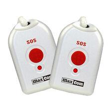 2 Umhänge-Sender für Senioren-Notruf-Telefon KXTSOS von Maxcom Halsbandsender