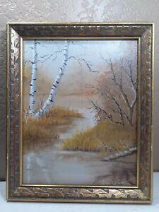 Outstanding vintage ORIGINAL FRAMED 8 x 10 signed oil painting
