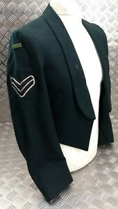 Genuine British Army Issue CPL Rifles Green Corporal Mess Jacket With Lapel Dogs