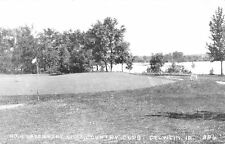Oelwein IA High Hills Not Allowed on Green~Country Club Lake 1940s RPPC
