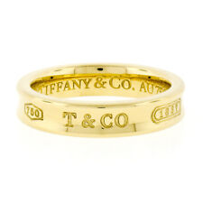 Tiffany & Co. 1837 18K Yellow Gold 4mm Concave Polished Wedding Band Ring Size 5