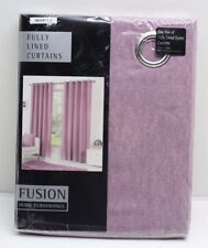 """Fusion Sorbonne Ready Made Fully Lined Eyelet Curtains Size & Colour Choice 66""""x54"""" Duck Egg"""