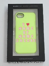 "(1) NIB Marc by Marc Jacobs Yellow ""I Heart Marc"" Case Compatible with iPhone 5"