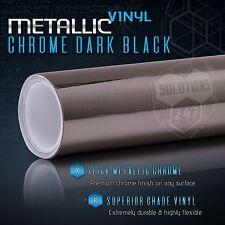"""60""""x108"""" In Dark Black Chrome Mirror Vinyl Wrap Film Sheet Roll Air Bubble Free"""
