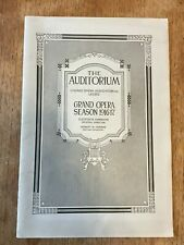 1916-1917 Chicago Civic Grand Opera Program La Boheme Advertising