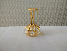 24k Gold Plated Vase Figurine Decorative Ornament Decorated With Crystals n2