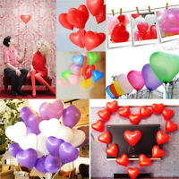 "10 PCS Latex Heart Shaped Balloons Birthday Wedding Party Decoration 12"" Fashion"
