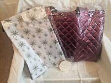 6 Joy Mangano Gift Bag/ Reusable Totes Merlot w/ Coordinating Tissue & Gift Tags