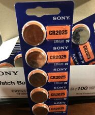 CR2025 SONY DL2025 BR2025 Lithium Coin Cell  5 Battery 3V Exp 2027 Fast Shipping