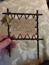 "Enesco ""Friends of the Feather"" Great Nation of Friends Collection Leather Sign"