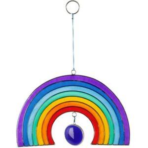 Large Colourful Rainbow Suncatcher, Bright Resin Window Decoration