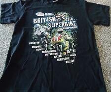 BRITISH SUPER BIKE CHAMPIONSHIP 2010 T-SHIRT : LARGE.