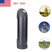 36V 10Ah Black Bottle Lithium Li-ion Battery for Electric Bicycle E-Bike