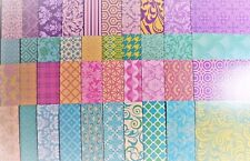 10 x A4 Pearlescent Pastel Create & Craft Patterned Card Stock NEW
