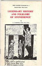 Vintage English Pamphlet on Legendary History and Folklore of Stonehenge