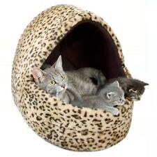 NEW Leo Cat Kitten Bed Cuddly Cat Cave Small Dog Igloo Bed