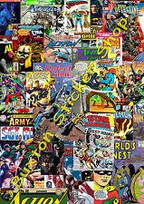 3 X Pegatina bomba Marvel Dc Comics Euro Deriva Vinilo Calcomanía VW Dub Superman Batman 1