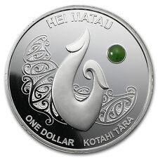 2012 New Zealand 1 oz Silver Maori Art Hei Matau Proof - SKU #69289