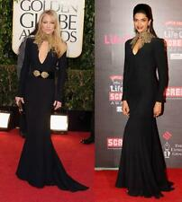 Alexander McQueen Black Crepe Jewel-neck Gown Size 40 $7760