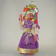 Nepal National Souvenir Handmade Wood Doll in Traditional Hindu Ceremonial Dress