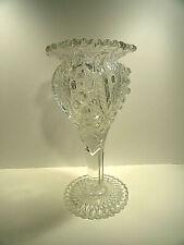 Imperial Pressed Glass Hobstar Vase
