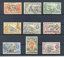 Nigeria 1953-58 QEII set to 1/-, SG 69 - SG 76