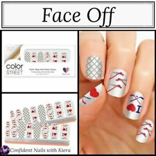 NEW Color Street Nail Strips FACE OFF Hockey HTF retired Set RARE