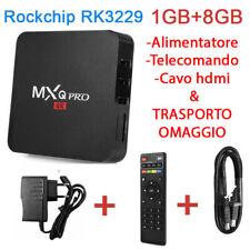 Android tv box  MXQ PRO 4K CPU 4 CORE H.265 64 BIT 1GB+8GB ROCKCHIP RK3229
