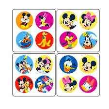 100 Mickey Friends MiniBadges STICKERS Birthday Party Favors for Treat Loot Bags
