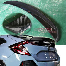 Carbon Fiber HONDA 2017~2019 CIVIC Hatchback 5-Door ducktail trunk spoiler ◎