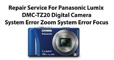 Repair Service For Panasonic Lumix DMC-TZ20 Digital Camera System Error Zoom.