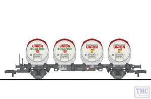 L235121 HO Scale Liliput Flat Wagon BT55ms Four Beer Tanks Ddikr 624 DB Ep.IV
