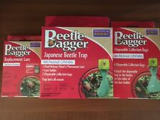 Bonide Japanese Beetle Bagger Kit 1Trap 1 Lure 2 Bags Plus 6 extra Bags +1 Lure