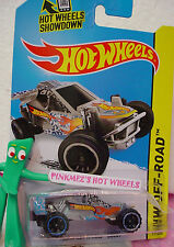 Case P/Q 2014 i TEAM HOT WHEELS BUGGY #111∞Silver w/Panther Spots∞HW Off-Road