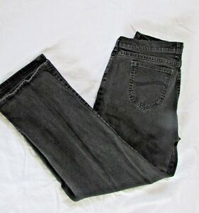 Lee Women Jeans 12 Medium Charcoal Gray Relaxed straight leg At The Waist pants