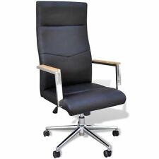 Bureaustoel Kunstleer Hout + Chroom burostoel buro bureau stoel kantoorstoel