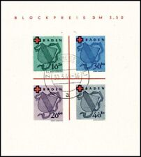 Franz. Zone Baden Mi. Bl.2I gest., tadellos, Fotoattest BPP (1500,-+€)(10639/33)