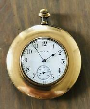 ELGIN Antique Pocket Watch Manual Winding 46mm 1913 Gold Filled