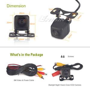 CCD Rear Camera Reverse Guide Line Night Vision PAL 170° Fisheye NamePlate 585