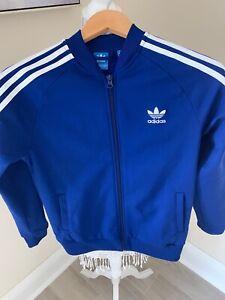 Blue Addidas Kids Large Jacket