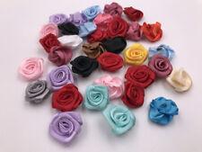 20Pcs color Satin Ribbon Rose Flower 16mm Applique/Trim/Craft/Sewin g/Bow