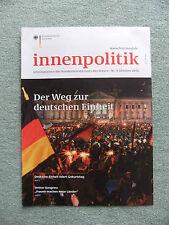 Innenpolitik Okt 2010, Der Weg zur deutschen Einheit, + DVD Zusammenwachsen