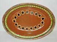 """Mexican Tlaquepaque Terracotta Red Barro Clay Serving Bowl Dish 9 3/4"""""""