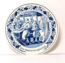 ASSIETTE MURALE ARTISANAT goedewarden Bleu Delft Hollande de pastetenbäcker
