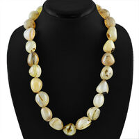 UNTREATED SUPERB 912.00 CTS NATURAL RICH  ONYX BEADS NECKLACE - ON SALE
