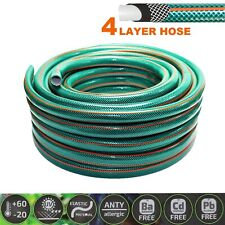 More details for garden hose pipe 4-layer hosepipe strong reinforced outdoor 1/2