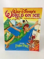 Disney World On Ice Peter Pan Souvenir Program Book with Poster Vintage 1989