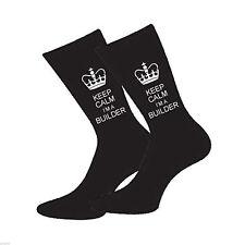 Keep Calm Soy un diseñador de agente Para Hombre Calcetines Divertido Novedad calcetines que O Cumpleaños