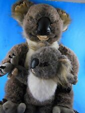 "Discovery Channel Koala Bear Mother & Baby Plush 14"" Sitting"